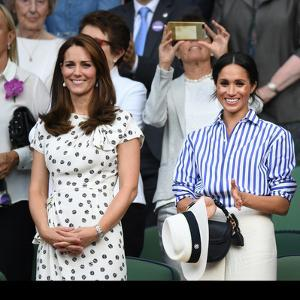Catherine Duchess of Cambridge and Meghan Duchess of Sussex in the Royal Box at  Wimbledon by Associated Newspapers