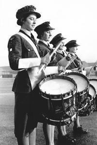 Drummers in a Waaf Band by Associated Newspapers