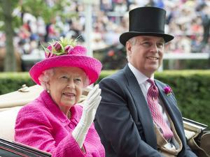 HM Queen Elizabeth and Prince Andrew at Royal Ascot by Associated Newspapers