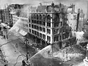 John Lewis Oxford Street Bombing Aftermath by Associated Newspapers