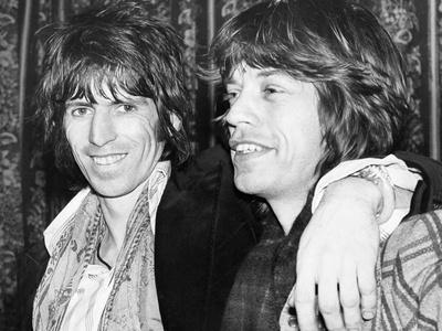 Keith Richards and Mick Jagger Celebrate