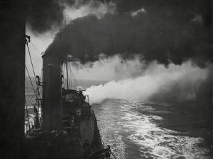 Naval Destroyer at Sea by Associated Newspapers