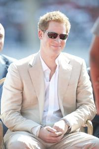Prince Harry during the Diamond Jubilee tour in the Bahamas by Associated Newspapers