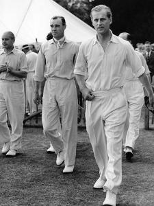 Prince Philip at a cricket match by Associated Newspapers
