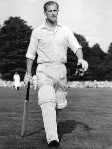 Prince Philip walks out to bat by Associated Newspapers