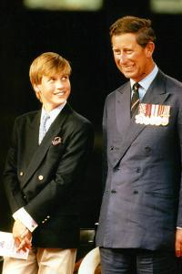 Prince William and Prince Charles  in 1995 by Associated Newspapers