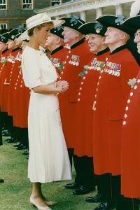 Princess Diana Meeting Pensioners at Royal Hospital Chelsea by Associated Newspapers