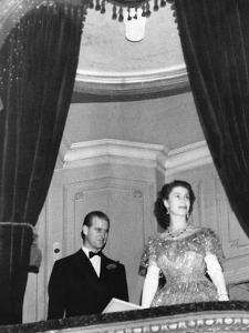 Queen Elizabeth II and Prince Philip at the London Coliseum by Associated Newspapers