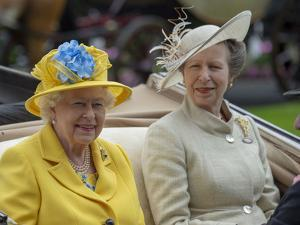 Queen Elizabeth II and Princess Anne at Ascot by Associated Newspapers