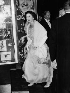 Queen Elizabeth II arriving at the London Palladium by Associated Newspapers