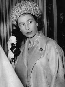 Queen Elizabeth II on the telephone by Associated Newspapers