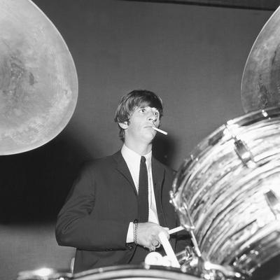 Ringo Starr Playing the Drums