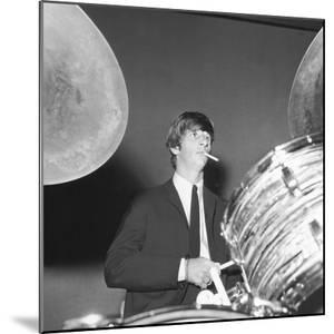Ringo Starr Playing the Drums by Associated Newspapers