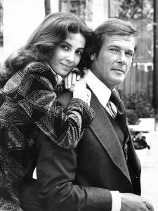 Roger Moore and Barbara Parkin by Associated Newspapers