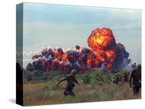 Beautiful Vietnam War Battle Scenes Stretched Canvas Prints
