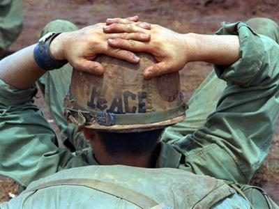 Peace Helmet by Associated Press