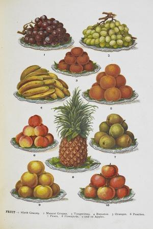 Assorted Fruits Including Pineapple-Isabella Beeton-Giclee Print
