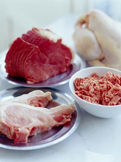 Assorted Meats-David Munns-Photographic Print