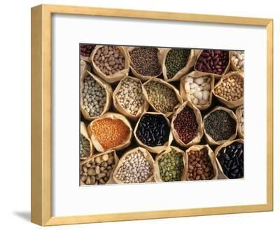 Assorted Peas, Lentils and Beans in Paper Bags