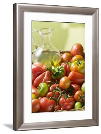 Assorted Tomatoes and Olive Oil-Foodcollection-Framed Photographic Print