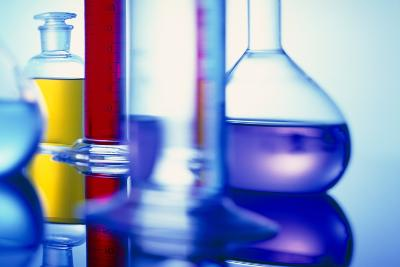 Assortment of Laboratory Glassware-Colin Cuthbert-Photographic Print