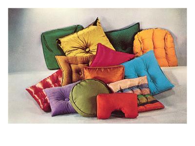 Assortment of Pillows, Retro--Art Print