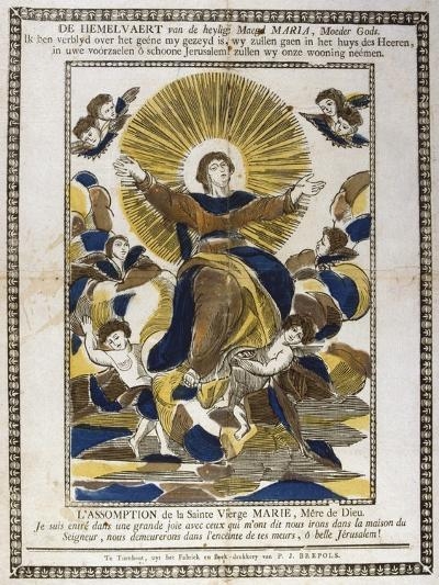 Assumption of the Virgin Mary, 19th Century--Giclee Print