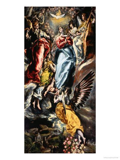 Assumption of the Virgin-El Greco-Giclee Print