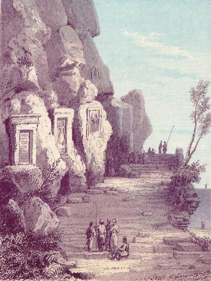 'Assyrian Scuplture at the Nahr El Kelb or Dog River', c19th century-Unknown-Giclee Print