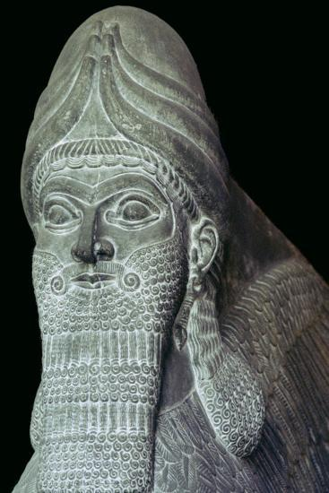Assyrian Winged Bull detail. Artist: Unknown-Unknown-Giclee Print