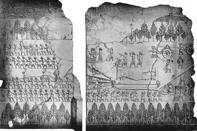 Assyrians Moving a Winged Bull, C7th Century BC, (C1900-192)-Austen Henry Layard-Giclee Print