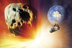 Asteroid Deflection Using Nuclear Explosion