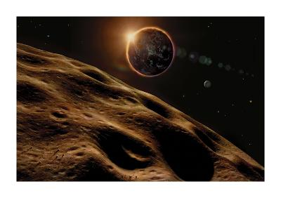 Asteroid Eclipse-David A Hardy-Premium Giclee Print