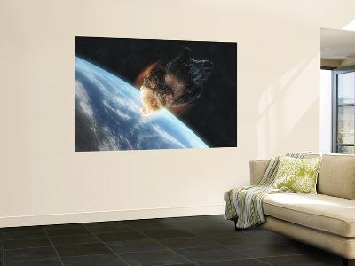 Asteroid in Front of the Earth--Wall Mural