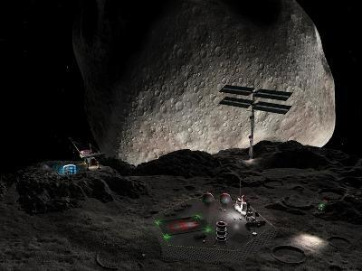Asteroid Mining Settlement, Artwork-Walter Myers-Photographic Print