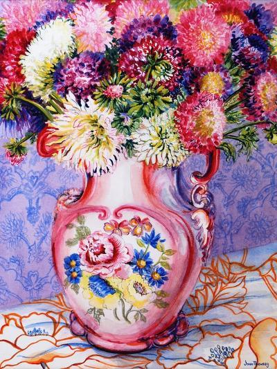 Asters in a Pink Floral Victorian Jug, 2002-Joan Thewsey-Giclee Print