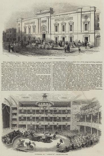 Astley's Amphitheatre--Giclee Print