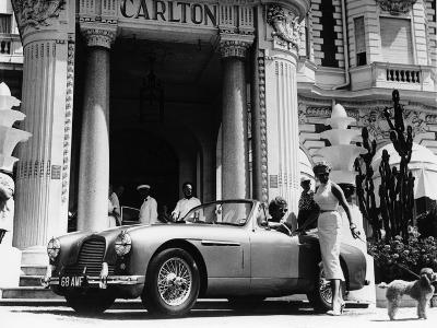 Aston Martin DB2-4 Outside the Hotel Carlton, Cannes, France, 1955--Photographic Print