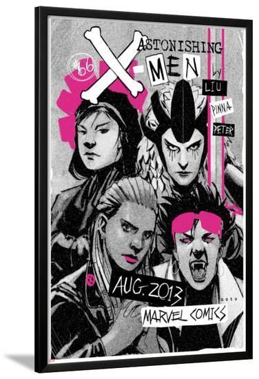 Astonishing X-Men #66 Cover: Jubilee, Warbird, Karma, Reyes, Cecilia-Amilcar Pinna-Lamina Framed Poster