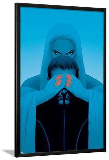 Astonishing X-Men No.2 Cover: Emma Frost and Cyclops-John Cassaday-Lamina Framed Poster