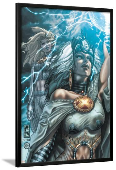 Astonishing X-Men No.29 Cover: Storm and Emma Frost-Simone Bianchi-Lamina Framed Poster