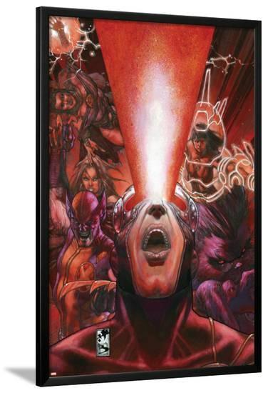 Astonishing X-Men No.30 Cover: Cyclops-Simone Bianchi-Lamina Framed Poster