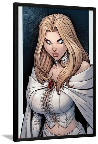 Astonishing X-Men No.43 Cover: Emma Frost-Arthur Adams-Lamina Framed Poster