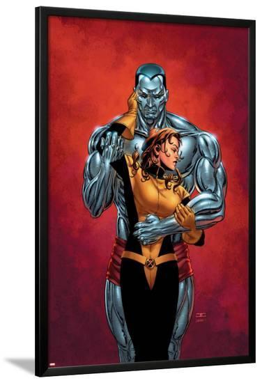 Astonishing X-Men No.6 Cover: Colossus, Shadowcat, Pryde and Kitty-John Cassaday-Lamina Framed Poster