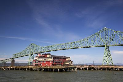 Astoria-Melger Bridge, Cannery Pier Hotel on the Columbia River, Astoria, Oregon, USA-Jamie & Judy Wild-Photographic Print