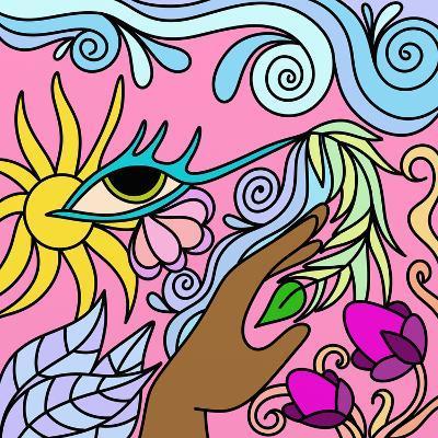 Astratto Fantasia-goccedicolore-Art Print