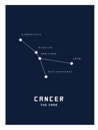 Astrology Chart Cancer--Art Print