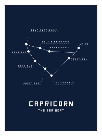 Astrology Chart Capricorn--Art Print