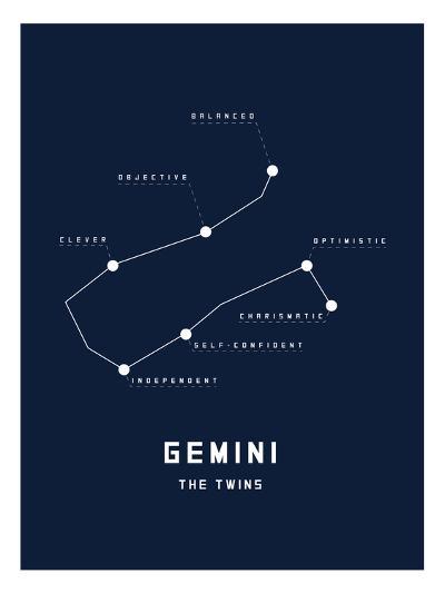 Astrology Chart Gemini--Art Print