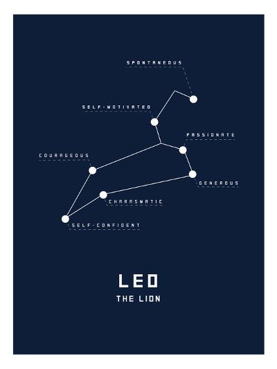Astrology Chart Leo--Art Print